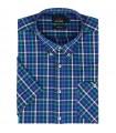 Koszula bawełniana męska Aldo Vrandi z krótkim rękawem 06