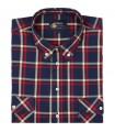 Bawełniana koszula męska w kratkę Mr.Unique krótki rękaw 049