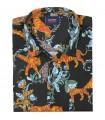 koszula męska Espionage w Hawajskim stylu z krótkim rękawem - Tiger