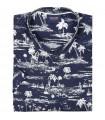 koszula męska Espionage w Hawajskim stylu z krótkim rękawem - Palm