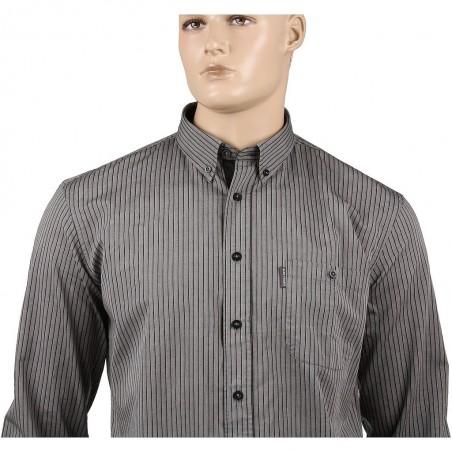 Szara koszula bawełniana Aldo Vrandi w paski