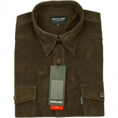 Koszula sztruksowa Dockland w kolorze khaki